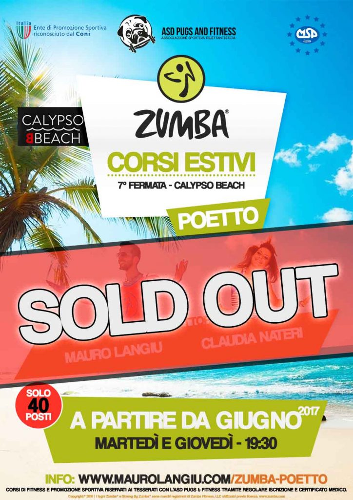 Corsi Zumba Poetto Sold Out