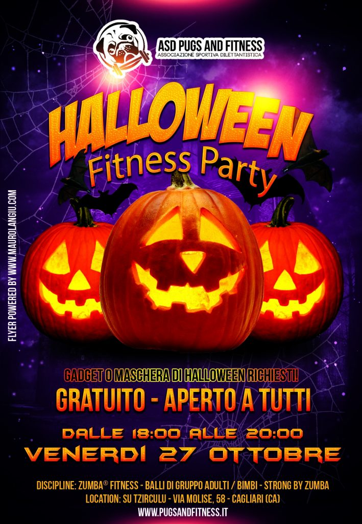 Halloween Fitness Party Pugs & Fitness cagliari selargius sardegna monserrato